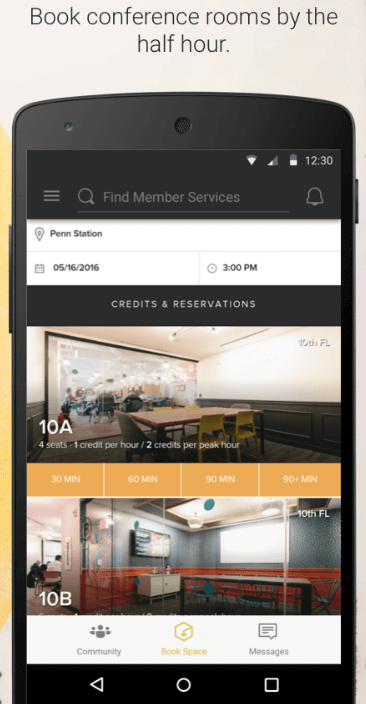 WeWork-app  - WeWork app - 3 Reasons Why Startups Need a Mobile App