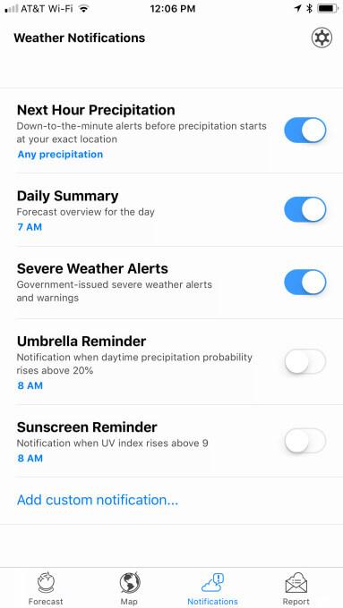 notifications-weather app