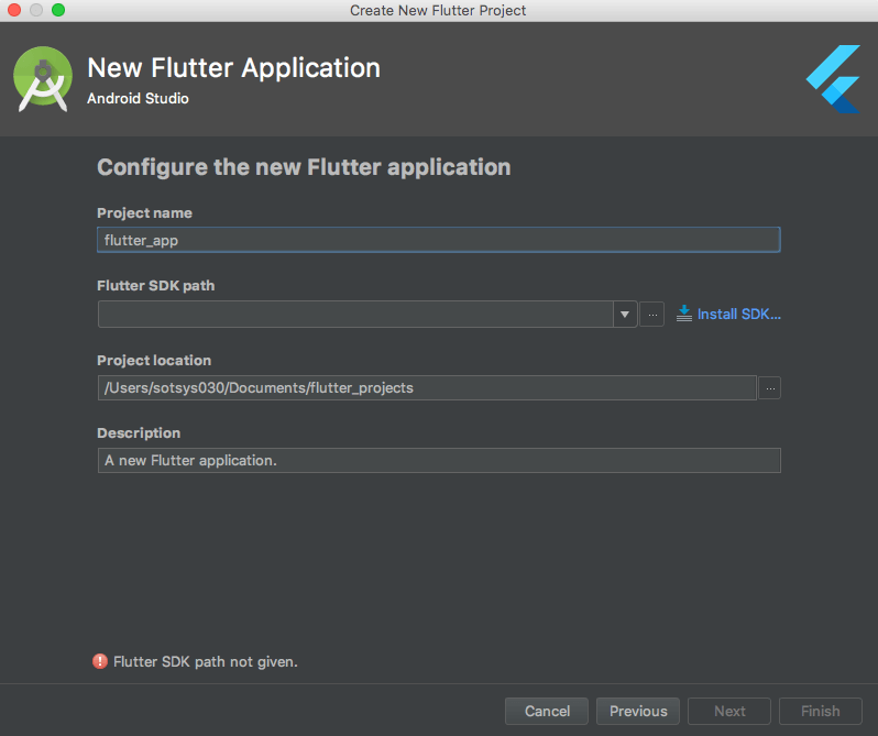 configure flutter application