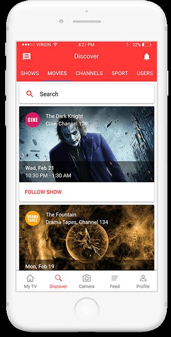 TV show Tracker App Screen