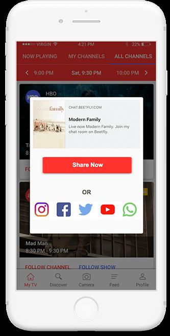 Social Media Integrationin TicTalk app