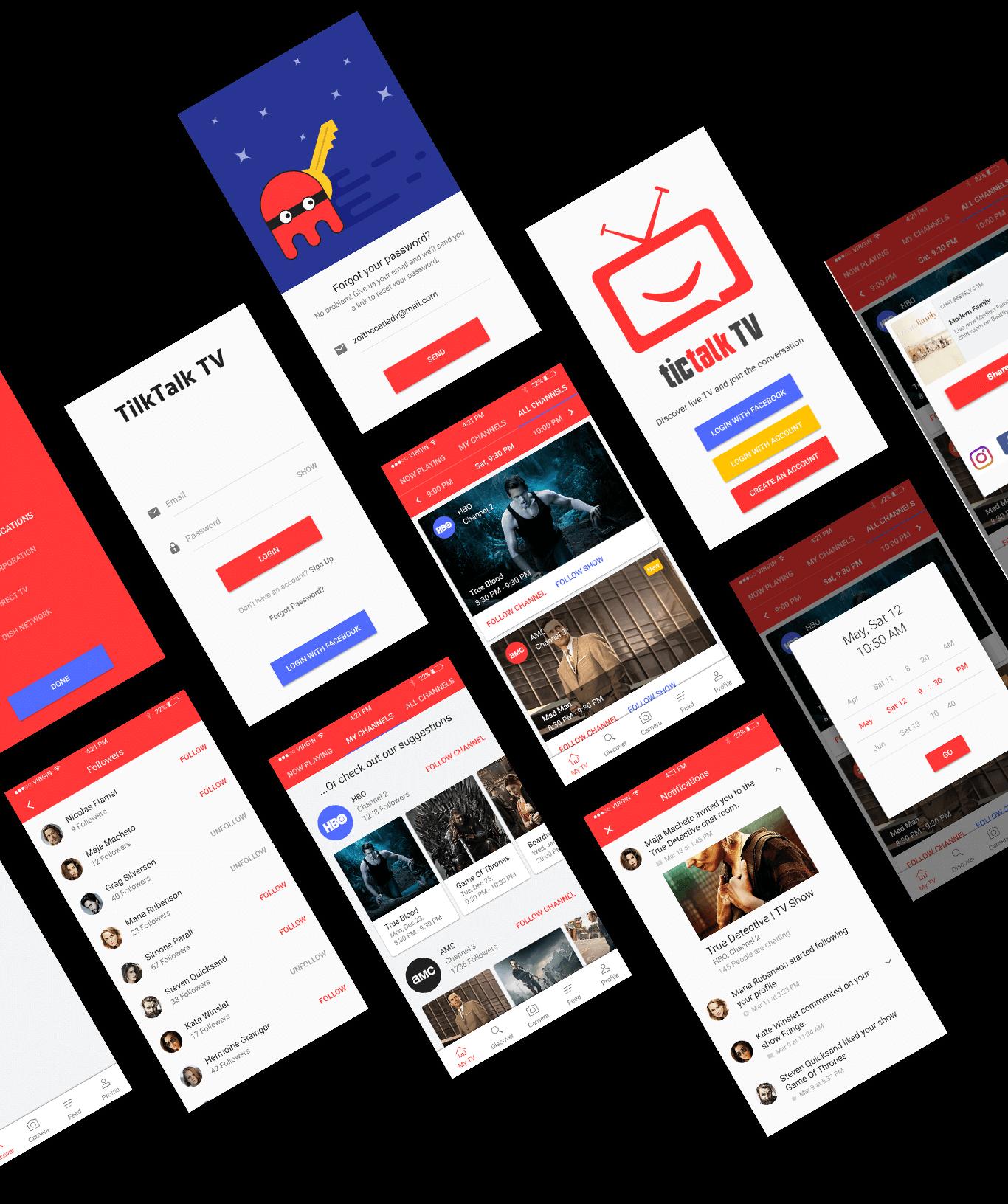 Tictalk TV app final design
