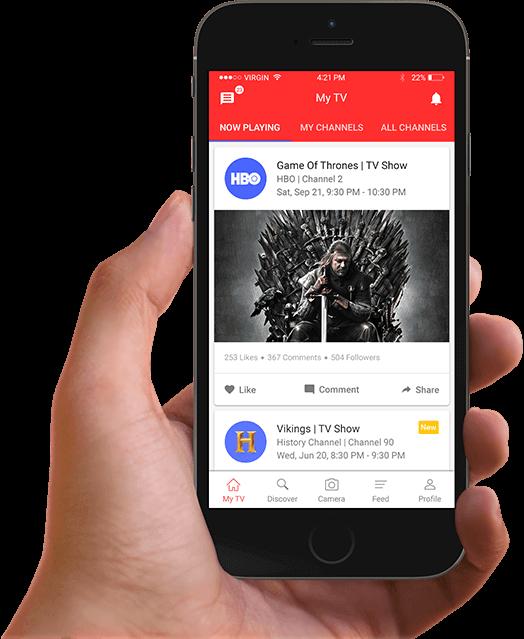Tictalk TV app home screen