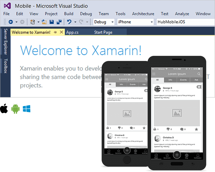 native xamarin app
