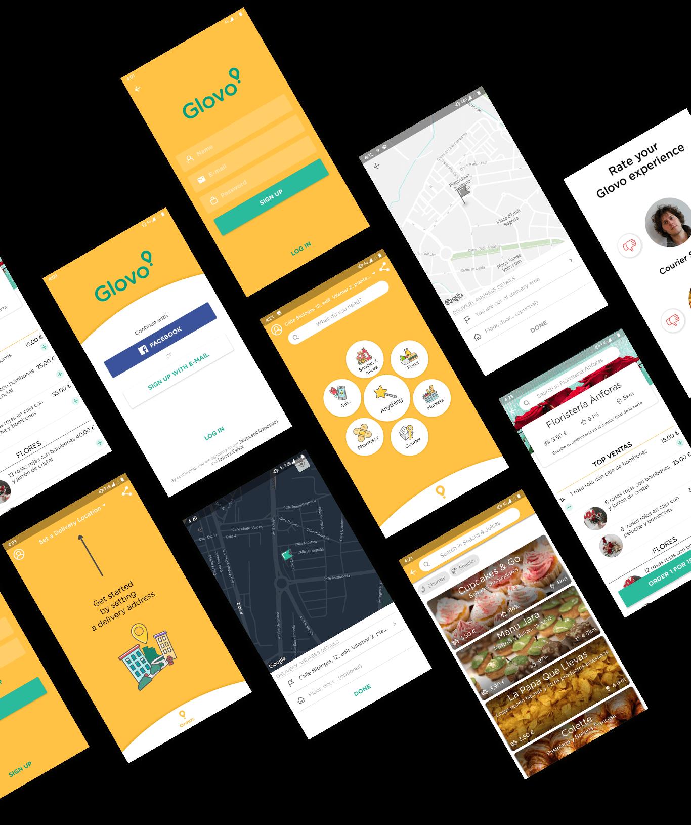 Glovo app final design