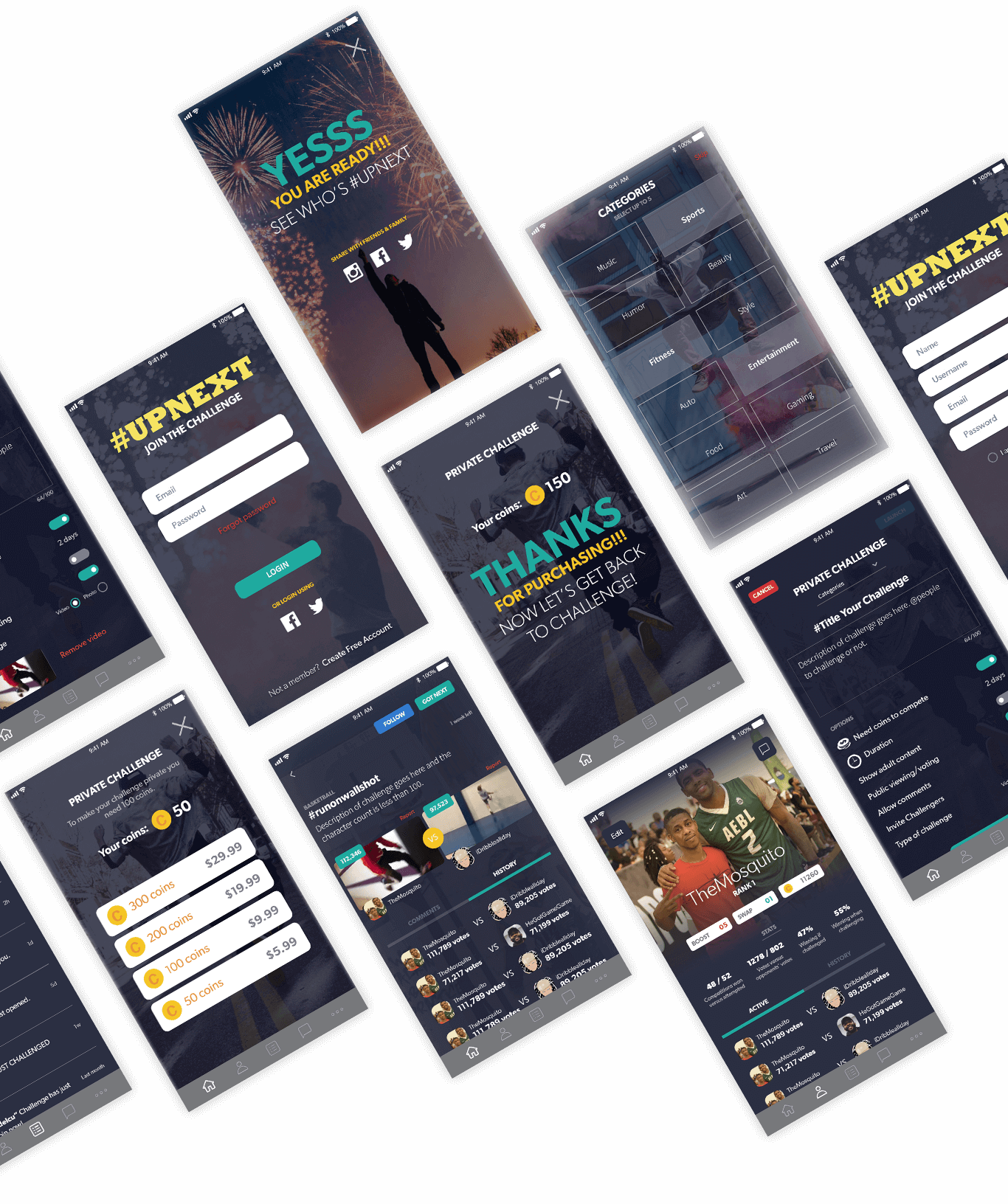Topit App Screens