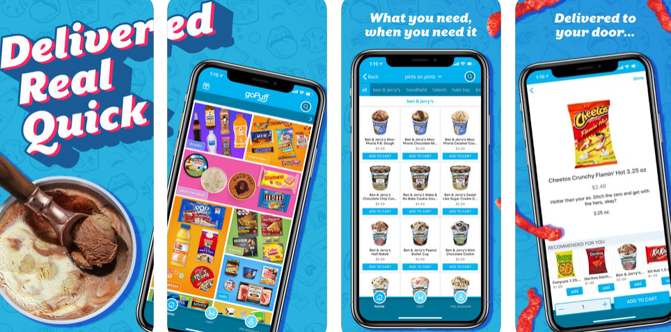 snack delivery app