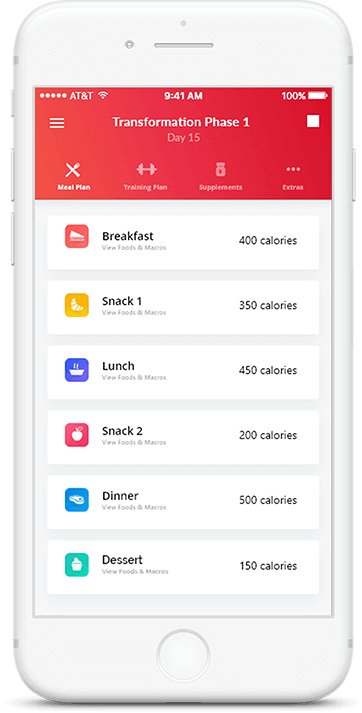 Personal Training Nutrition App