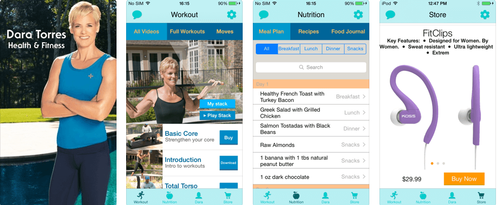 workout app development