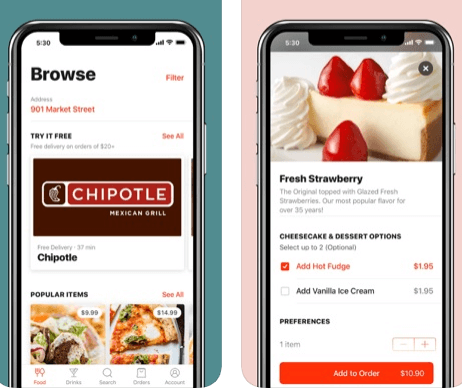 food delivery app development, Uber for Food Delivery: 4 Ingredients to Make a Successful Food Delivery App Like Doordash That Raised Another $100M in Funding