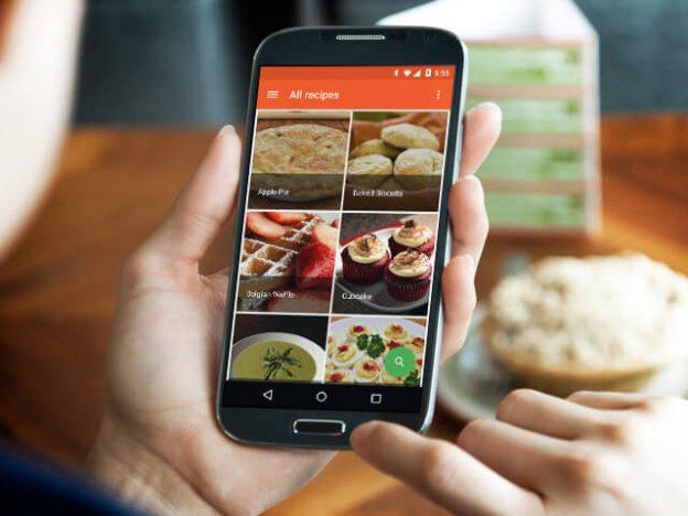 develop recipe app