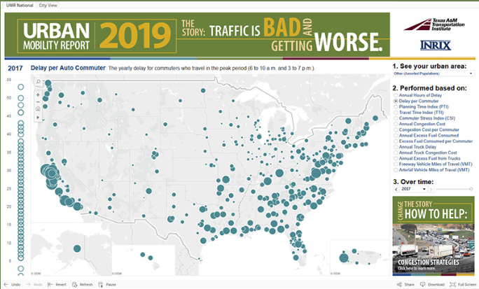 congestion map of US