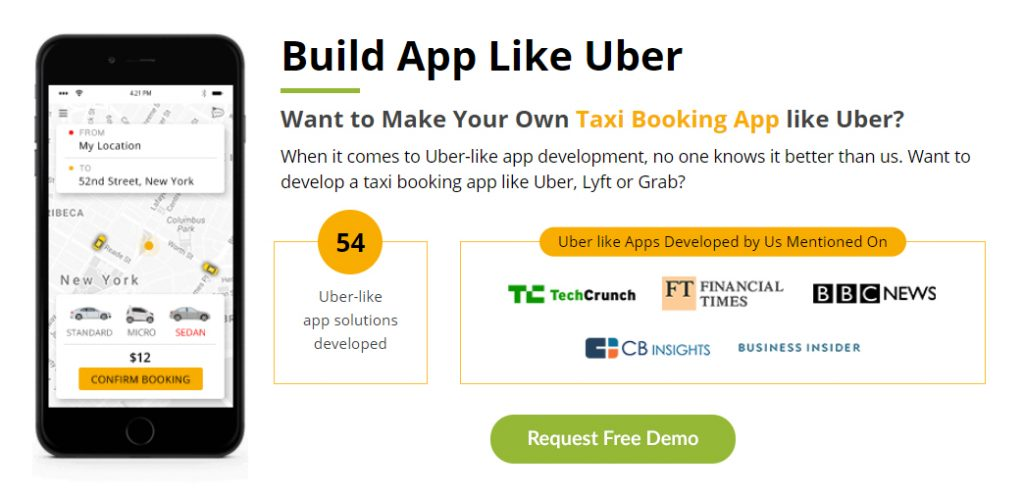 develop ride sharing app