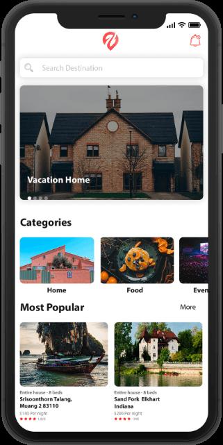 house rental app like Airbnb