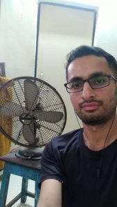 Selfie with table fan