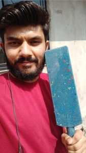 Selfie with object