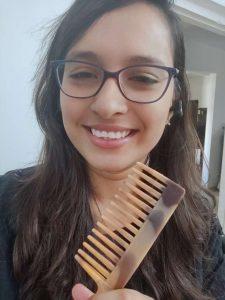 Selfie with comb