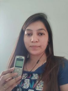 Selfie with old mobile