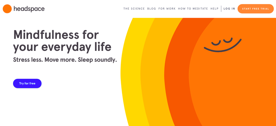Headspace-app-landing-page