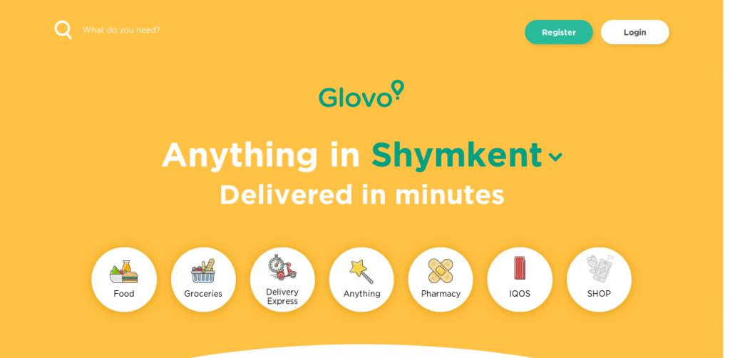 Glovo-app-landing-page