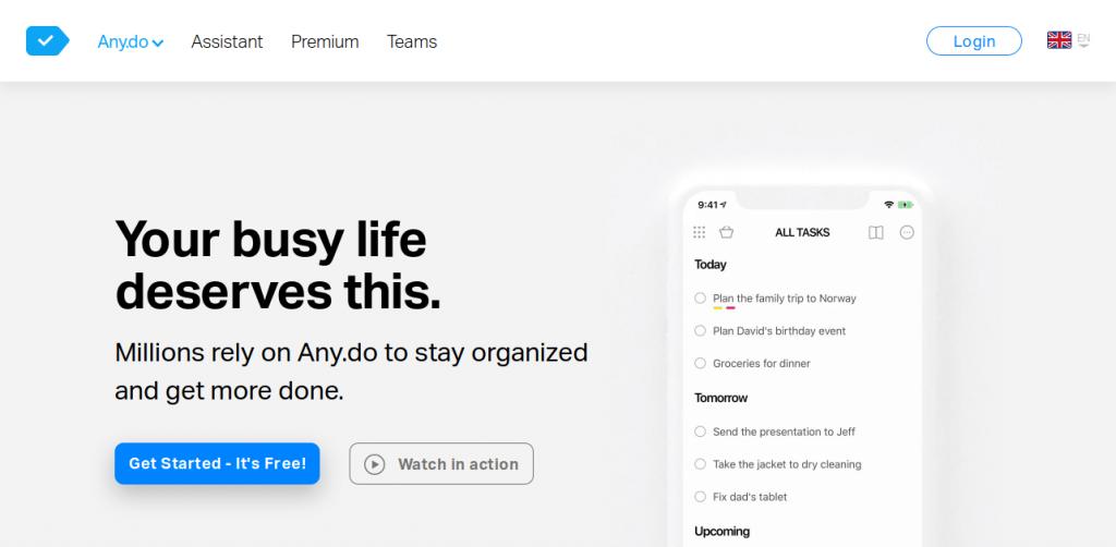 Anydo-app-landing-page