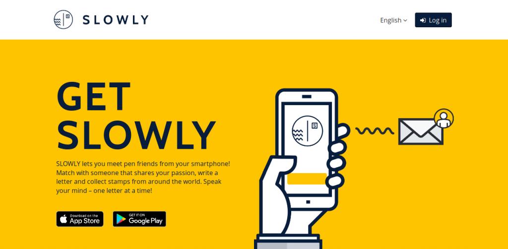 Slowly-app-landing-page