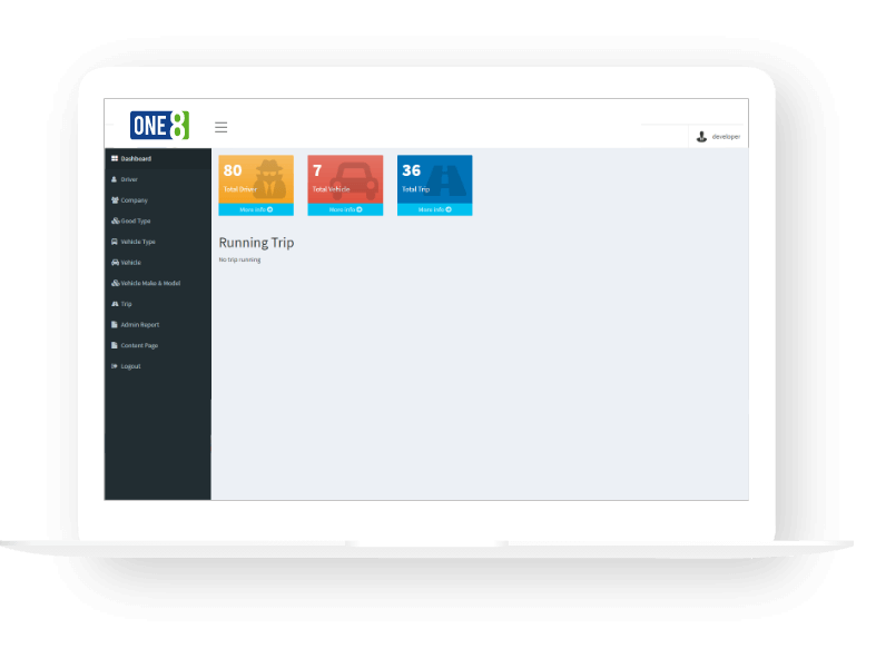 one8 admin dashboard