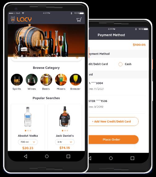Lacy Alchol App