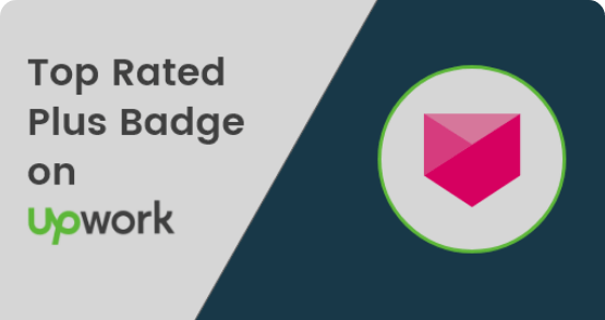 Top Rated Plus Badge by Upwork