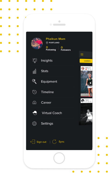 ShotStats Fitness Menu